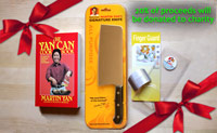 Chef Yan's Signature Knife & Finger Guard with GIFT Yan Can Cookbook